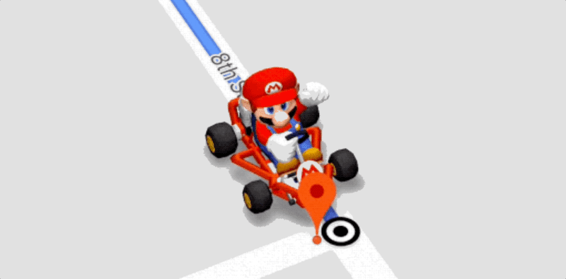 Mario no Google Maps