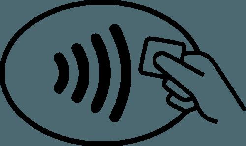 Símbolo de pagamentos sem contato