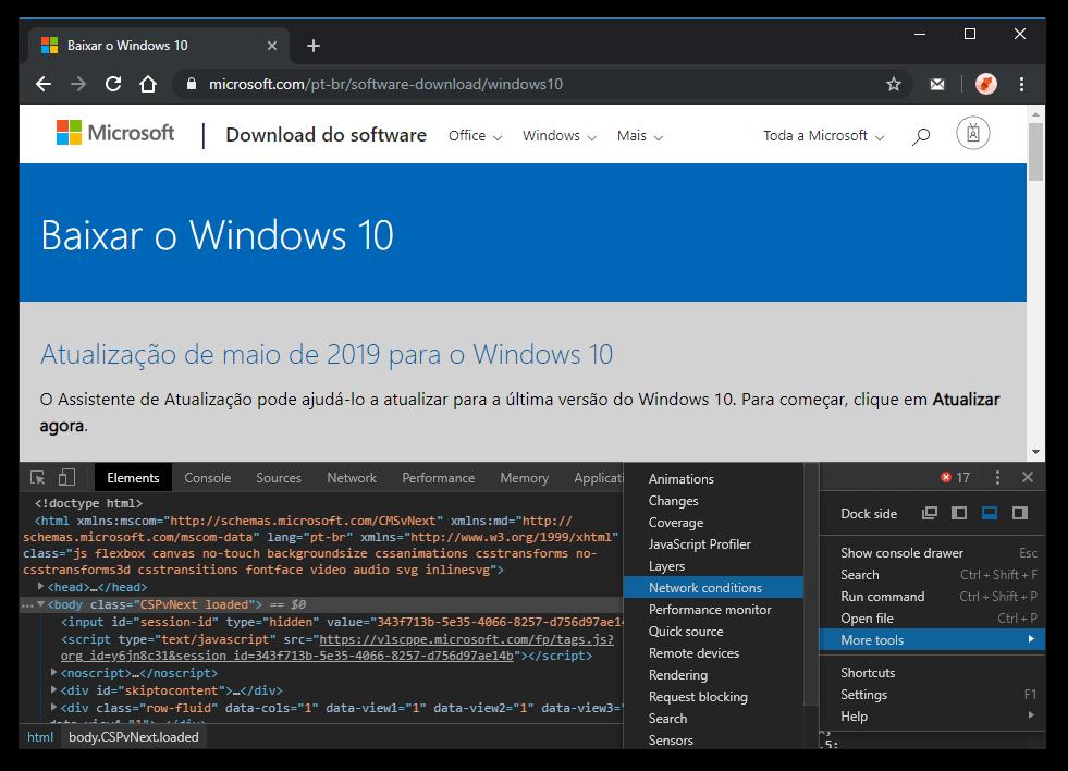 Baixar ISO Windows 10