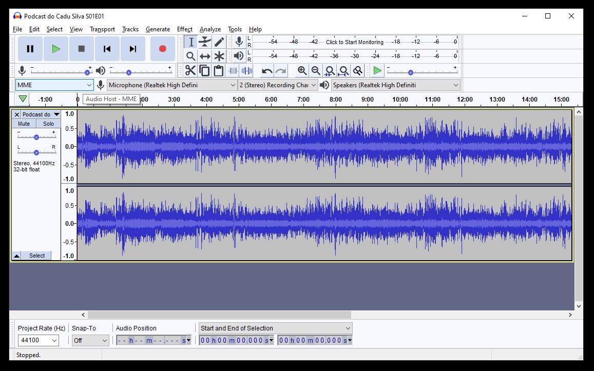 Use o Audacity para editar os episódios do seu podcast.