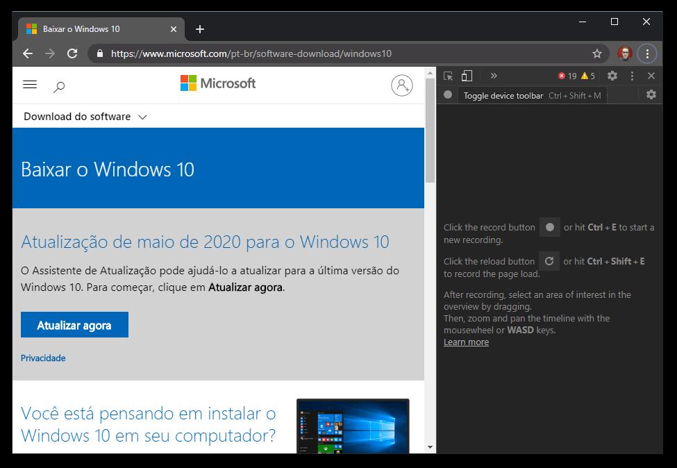 Baixar ISO do Windows 10 2004 May 2020 Update