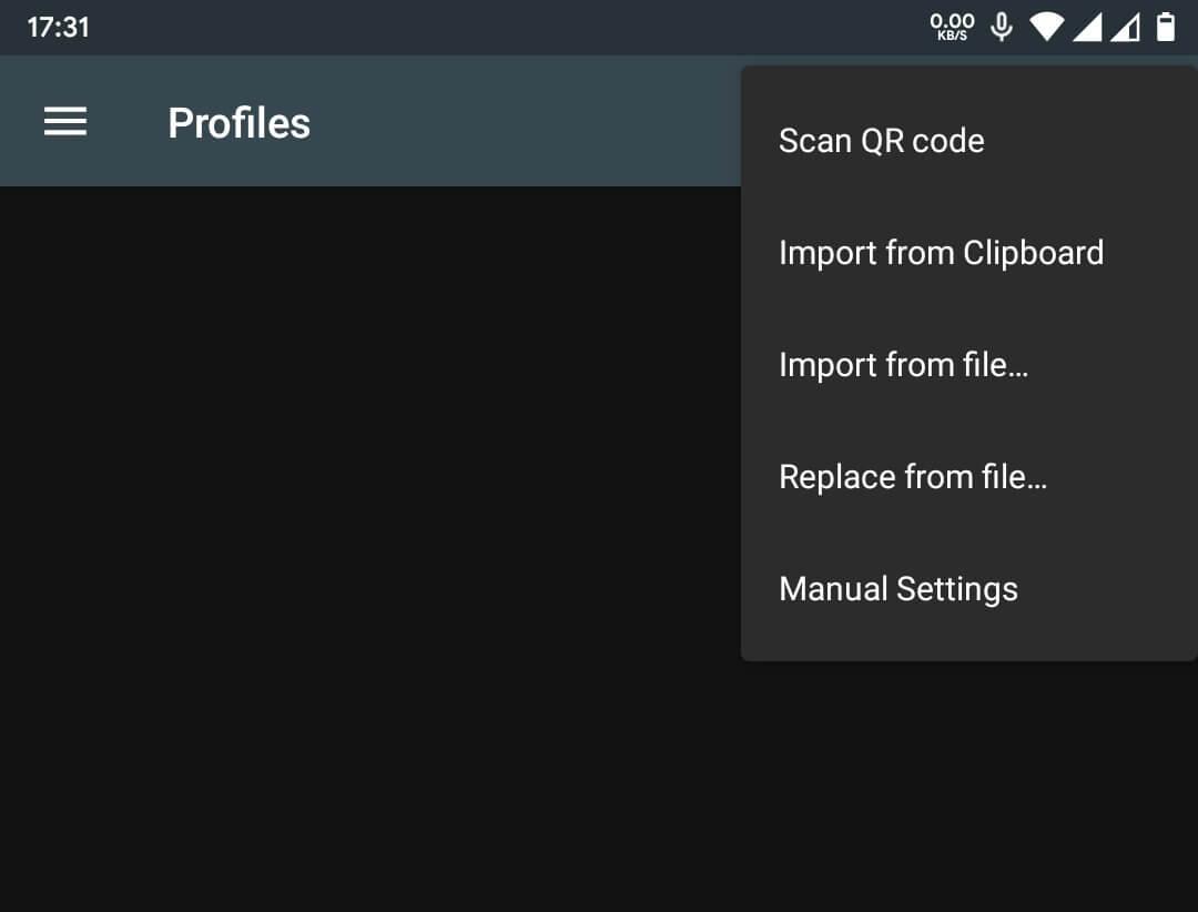 Importando a configuração do Shadowsocks por QR Code